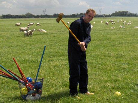 Boerengolf spelen bij Landgoed Ehzerwold in Almen